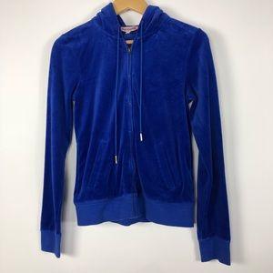 Juicy Couture blue  Zip Up hoodie Large